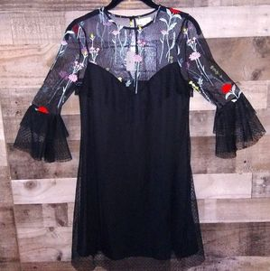 K/Lab new with tags NWT embroidered dress XS